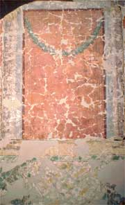 restoration fo Roman wall painting