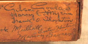 buster keaton signature on box